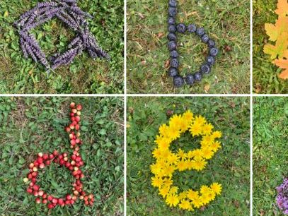 a-z letters using natural resources