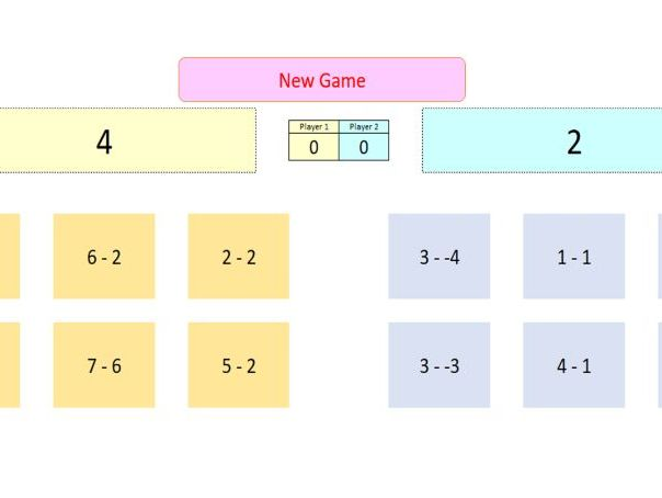 Interactive Subtract Game for Whiteboard Use
