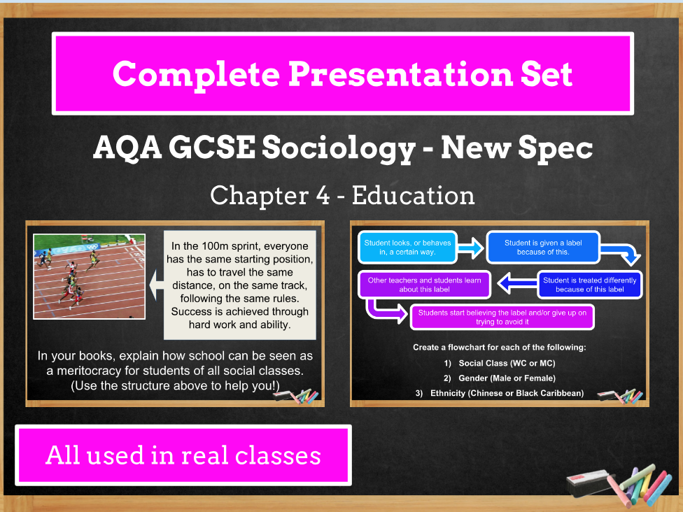 AQA GCSE SOCIOLOGY NEW SPECIFICATION - Unit 4 - Education