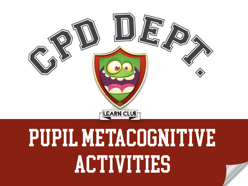 Pupil Metacognitive Activities