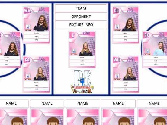 Netball Team Sheet – Editable Templates