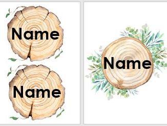 Natural name/peg labels