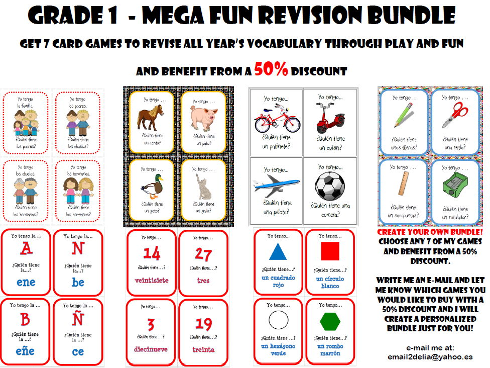 Grade 1 - Mega Fun Revision Bundle  - 50% Discount!