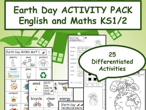 Earth Day / Earth Hour ACTIVITY PACK English and Maths KS1/2