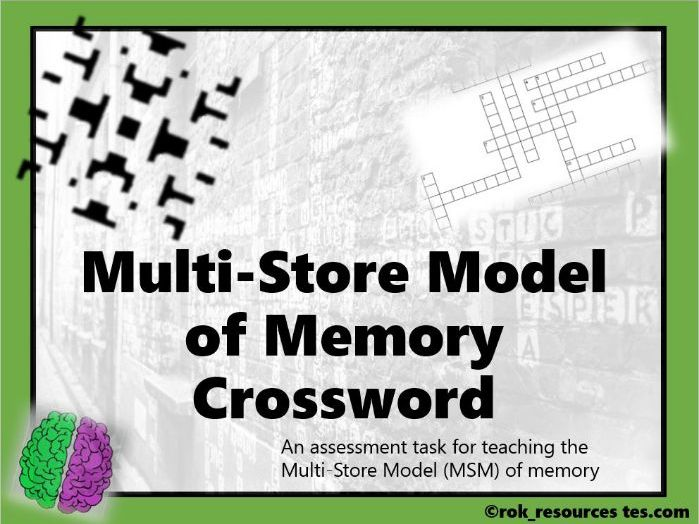 Memory Crossword 2 - worksheet