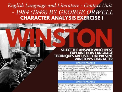 IBDP A Levels 9695 HSC AP English Language Literature Context 1984 Orwell CHARACTER ANALYSIS 1