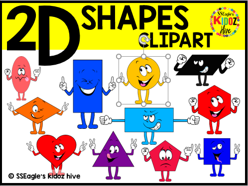 Distance Learning. 2D shapes Clip arts