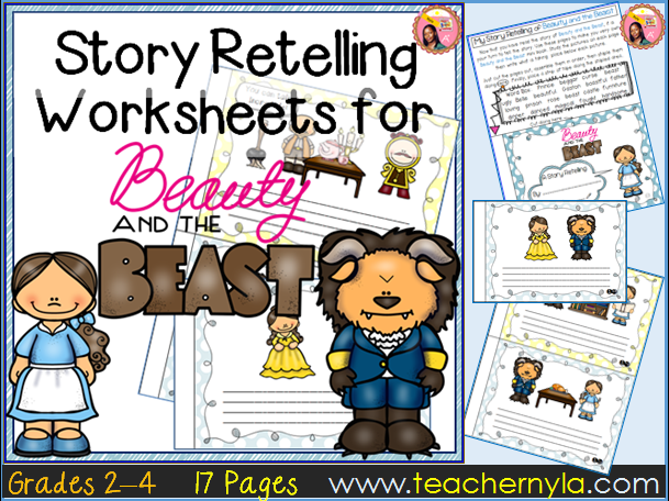 Beauty and the Beast Retelling Worksheets