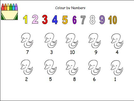 Colour by Numbers to 10