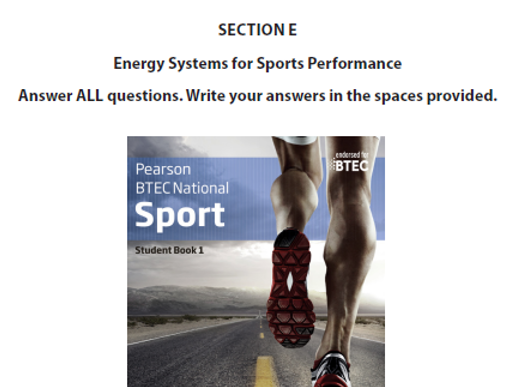 BTEC Sport Energy System Lesson 1