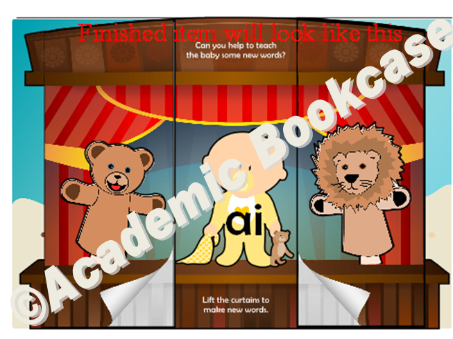 Puppet theatre word maker - Phase 3 'ai' words