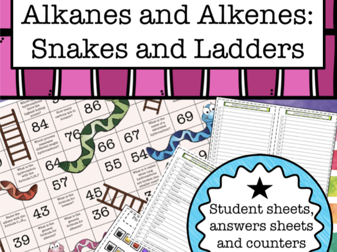 Alkanes and Alkenes: Snakes and Ladders