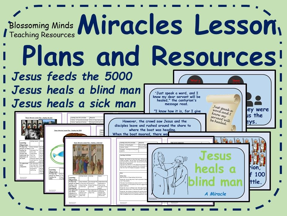 Jesus' Miracles - 3 week unit with resources