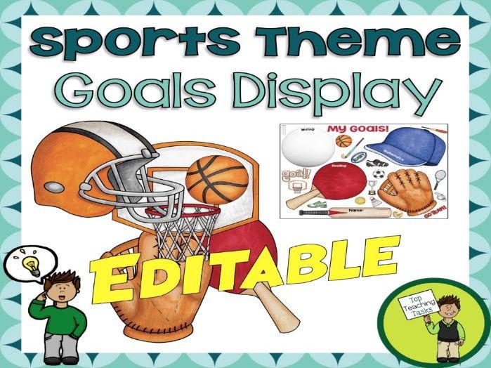 Sports Stars Student Goal Display - Sports Themed - USA - Editable