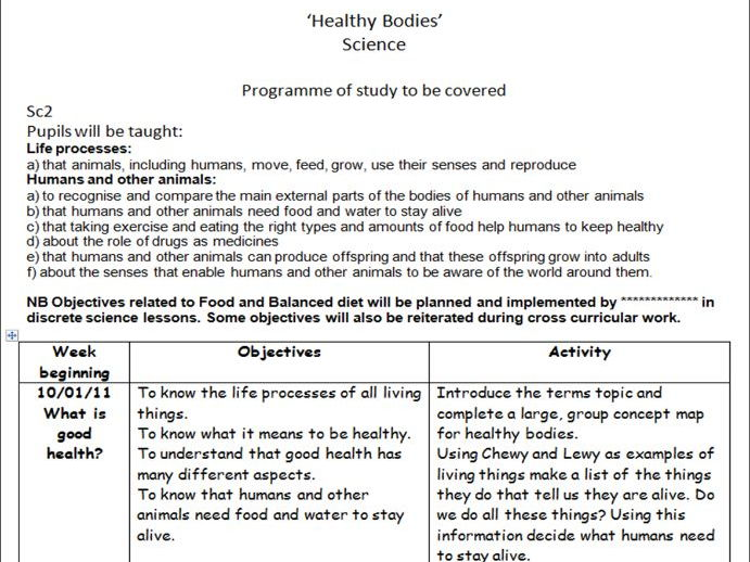 Healthy Bodies (Science/Health)