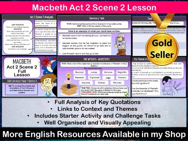 Macbeth Act 2 Scene 2 Lesson
