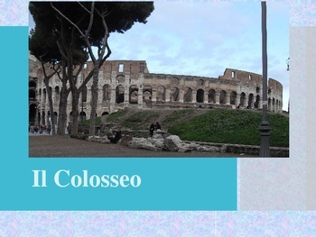 Il Colosseo The Colosseum