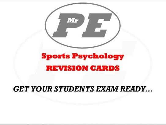 Sports Psychology REVISION CARDS