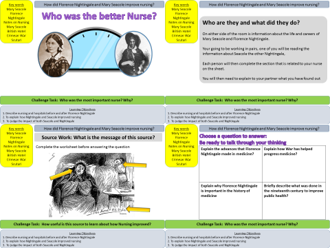 Medicine: How did Florence Nightingale and  Mary Seacole improve medicine?