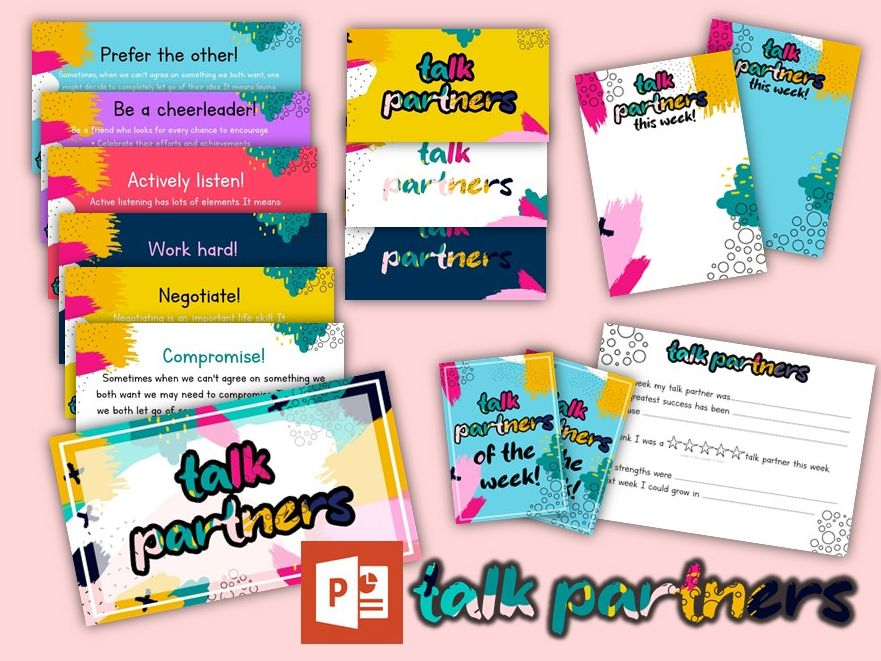 Talk Partners- Powerpoints, Activities and  Printables