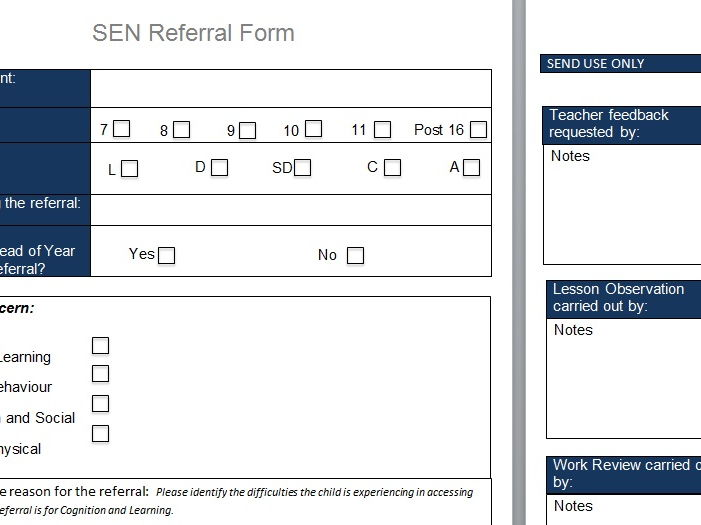 SEN Referral Pack