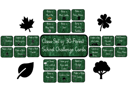 Class Set of Forest School Challenge Cards