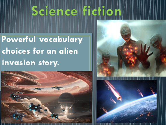 Science Fiction writing - Developing powerful vocabulary choices for a Science Fiction story