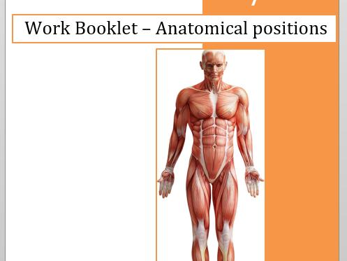 Functional anatomy workbooklets
