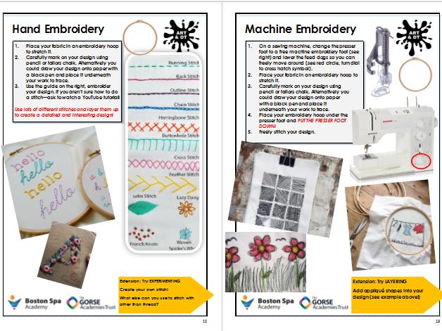 Textiles Technique Guide / Sampling Pack