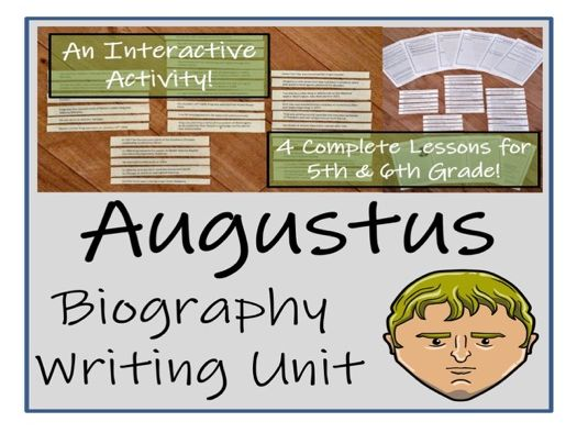 UKS2 History - Augustus Biography Writing Unit