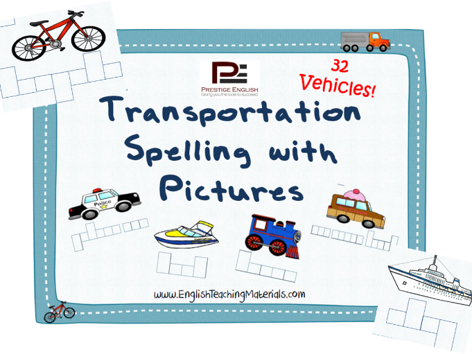 Transportation Split Pictures (Matching Game)