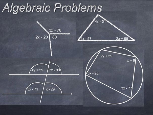 Algebraic Problems involving Angles
