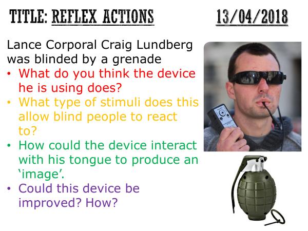 Reflex actions - complete lesson (GCSE 1-9)