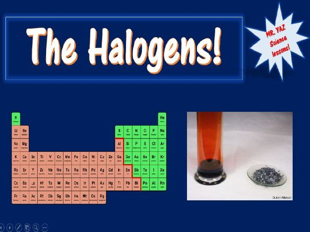 Periodic Table Group 7 Halogens Lesson