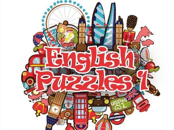 English Puzzles 1 Vocabulary practice workbook for EFL ESL Elementary level