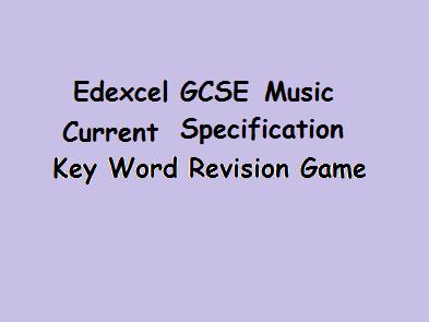 Revision - GCSE Music Edexcel Current Specification