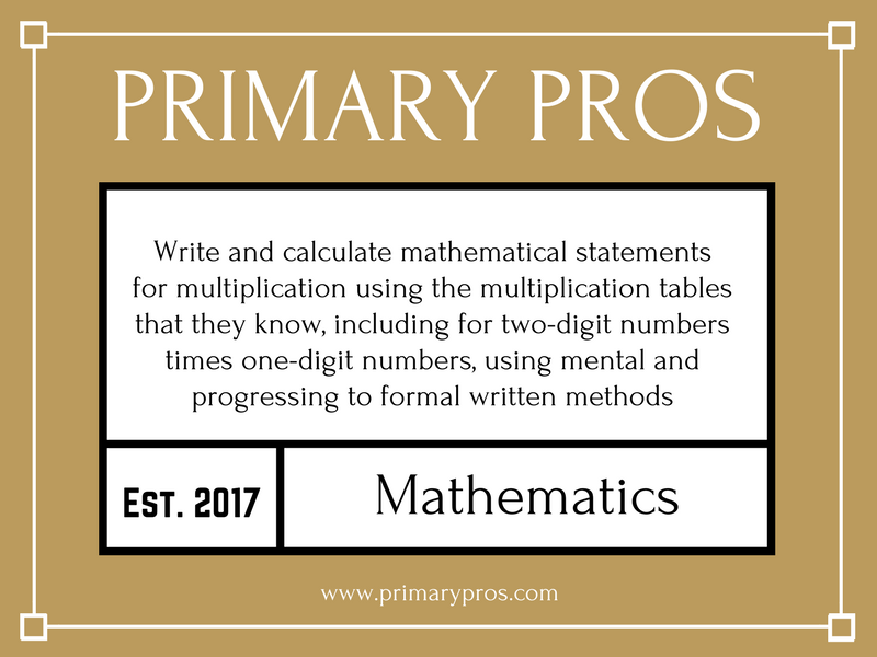 Write and calculate mathematical statements for multiplication