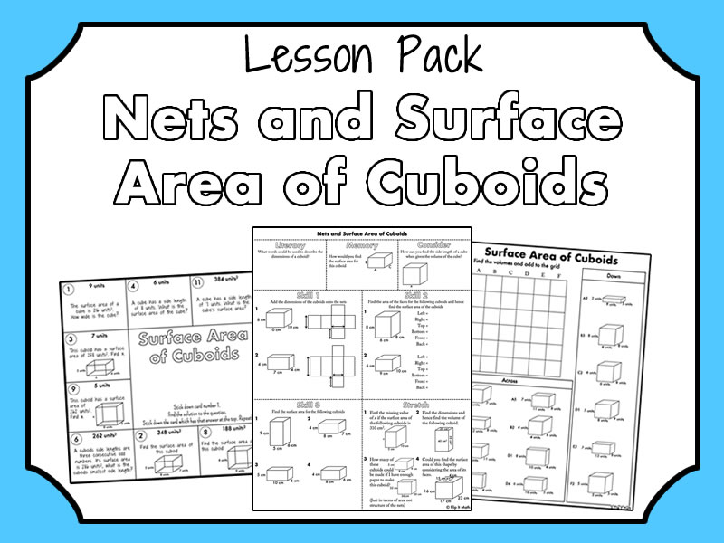 Nets and Surface Area of Cuboids