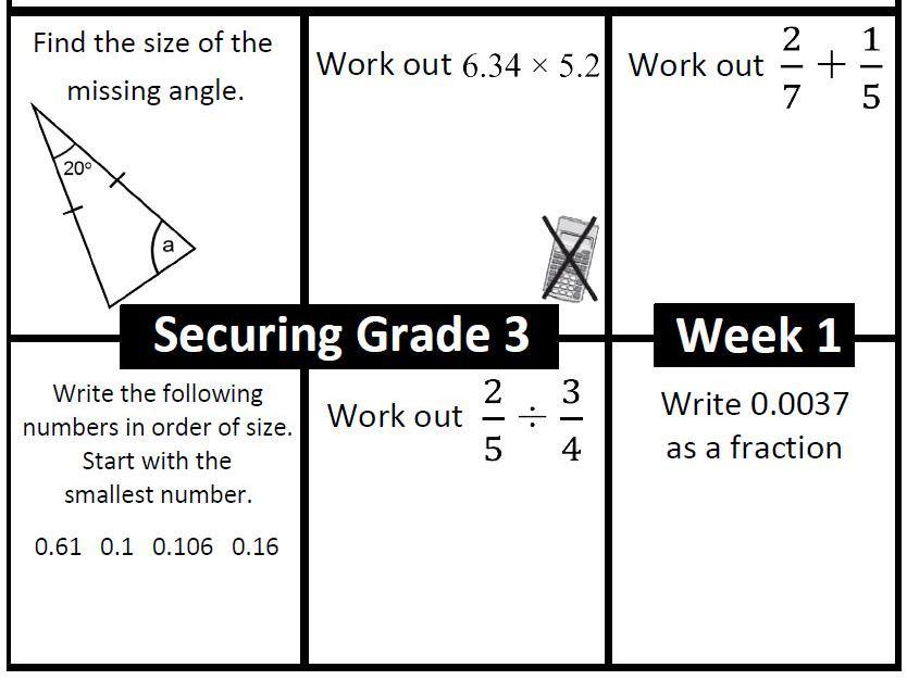 Target Grade 3 Starter Pack