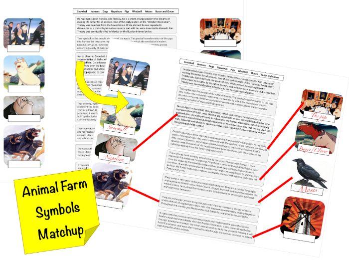 FREE - Animal Farm - Animals & Windmill as Symbols - Worksheet