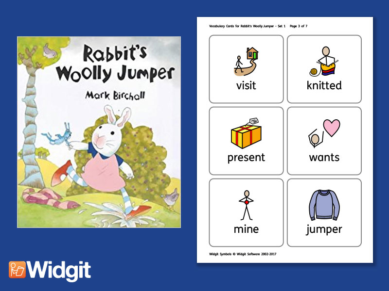 Rabbit's Woolly Jumper - Big Book Flashcards with Widgit Symbols