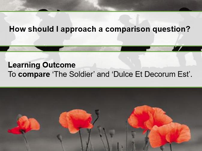 Comparison of The Soldier and Dulce Et Decorum Est- Revision