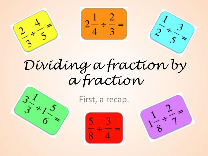 Fractions KS3 & KS4 division of  fractions & mixed numbers. Exposition with Qs & As + worksheets
