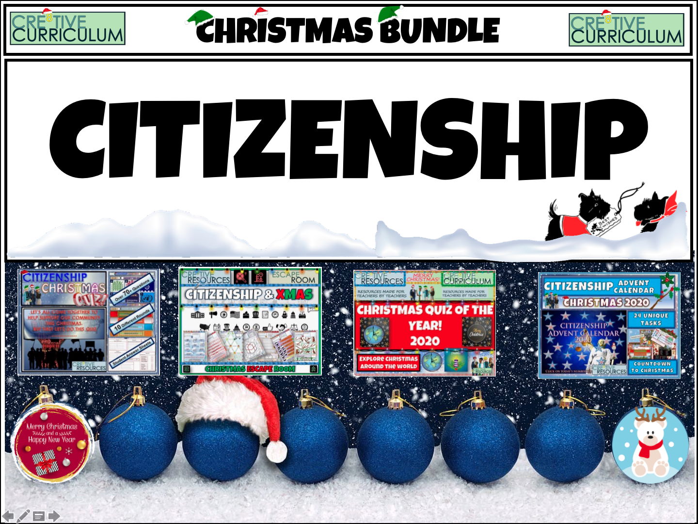 Citizenship End of Term Quiz Bundle
