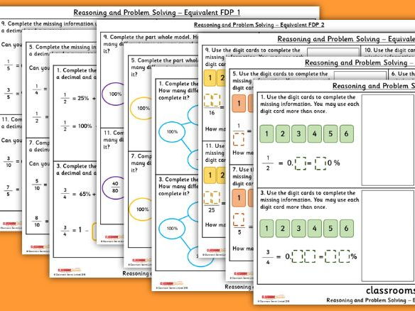 Year 6 Equivalent FDP WRM Spring Block 2 Reasoning and Problem Solving Pack