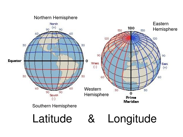 Geography  - Latitude and Longitude Worksheet