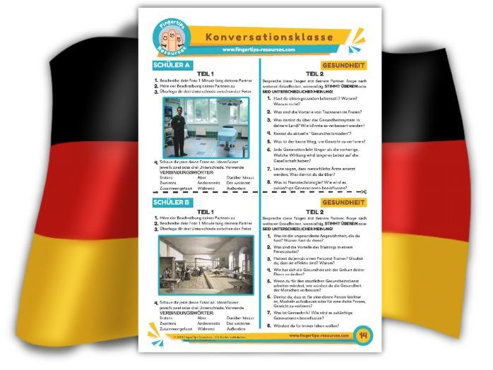 Gesundheit - German Speaking Activity