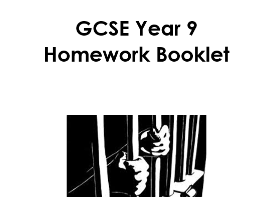 Crime and Punishment Homework Booklet