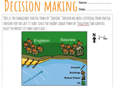 Coastal Management Decision Making Exercise