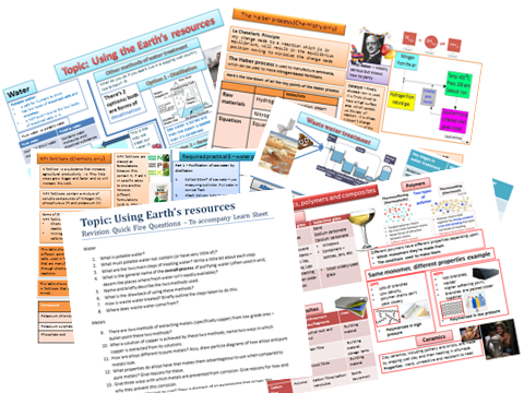 AQA GCSE Chemistry - Using Resources revision.
